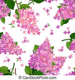 fleurs, texture, seamless, lilas