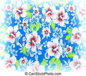 fleurs, tissu, arrière-plan.