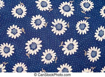 fleurs, tissu
