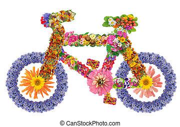 fleurs, vélo