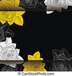 fleurs, vecteur, illustration