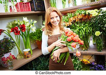 fleurs, vendeur