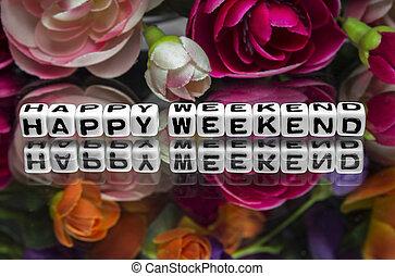 fleurs, week-end, heureux