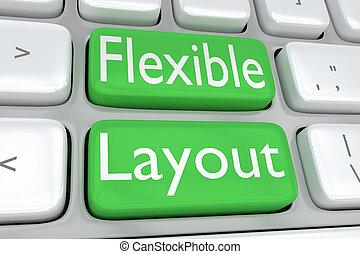 flexível, esquema, conceito