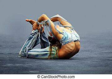 flexível, menina