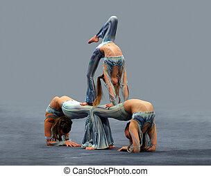 flexível, meninas