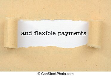 flexível, pagamentos