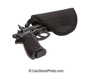 flexibel, pistole, 9mm, pistolenhalfter