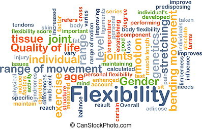 flexibilidad, concepto, plano de fondo