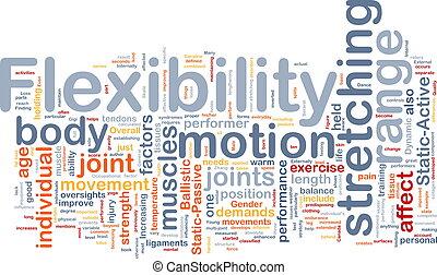 flexibiliteit, concept, achtergrond