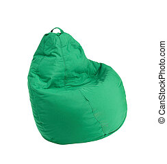 Flexible and adjustable seat beanbag isolated on white