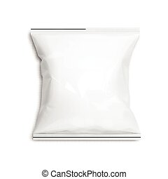 Food snack pillow Realistic package.