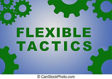 flexible, concept, tactique
