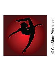 Flexible dancing girl