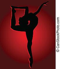 flexible, girl, danse