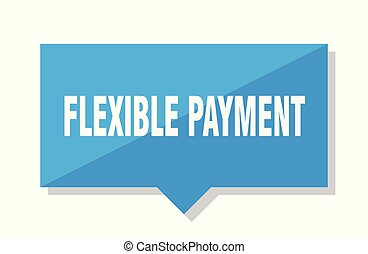flexible payment price tag - flexible payment blue square...