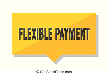 flexible payment price tag - flexible payment yellow square...