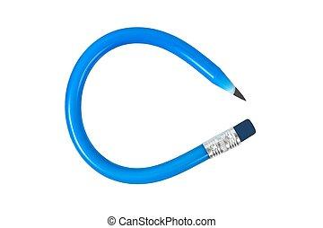 Flexible pencil on white