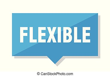 flexible price tag - flexible blue square price tag