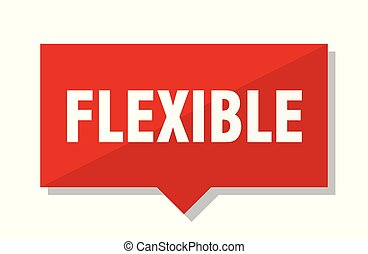 flexible red tag - flexible red square price tag