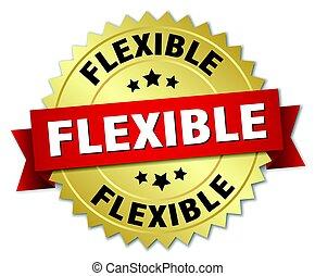 flexible round isolated gold badge