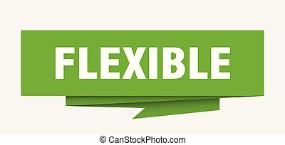 flexible sign. flexible paper origami speech bubble. ...