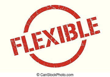 flexible stamp - flexible red round stamp