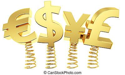 flexible, tasas, intercambio