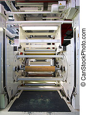 Flexo-printing - Equipment in a factory for flexo-printing....