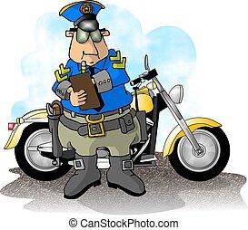 flic, motocyclette