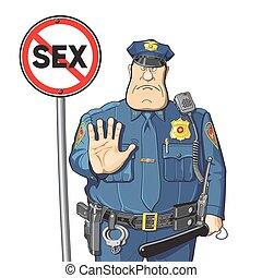 flic, prohibits, sexe