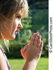 flicka, bön