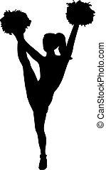 flicka, cheerleading