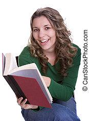 flicka läsa