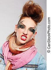 flicka, punkrock, glam