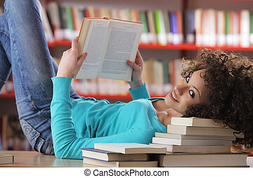 flicka studerande