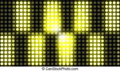 Flickering disco light at club