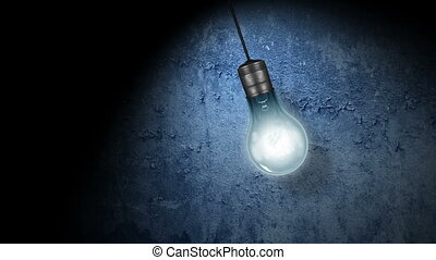 Flickering Light Bulb - A hanging, swinging, Flickering...