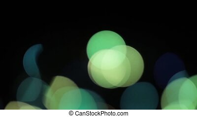 Flickering of unfocused lights on a black background HD 1920x1080