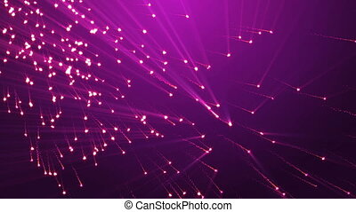 Flickering Particles, Purple background Seamless loop. Romance background