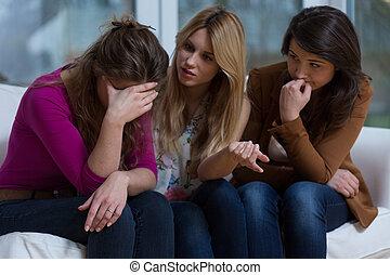 flickor, hjälpsam