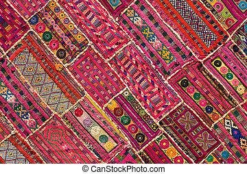 flickwerk, indische , rajasthan, asia, teppich