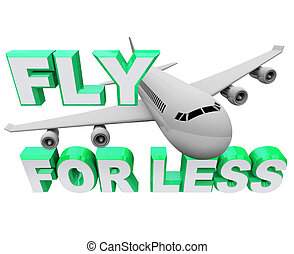 fliegen, flug, weniger, wenn, reise, -, luft, retten, ...