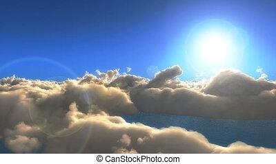 fliegen, wolkenhimmel