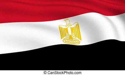 fliegendes, fahne, von, ägypten, |, geschlungen, |