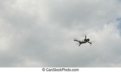 fliegendes, in, der, himmelsgewölbe, quadrocopter