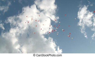 fliegendes, luftballone