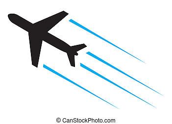 fliegendes, motorflugzeug