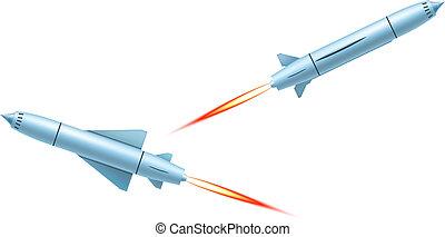 fliegendes, raketengeschosse, segeltörn