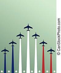 flieger, flugzeuge, usa, themed